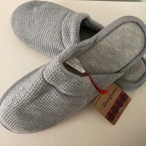 Dearfoams Textured Memory Foam Slippers XL 11-12